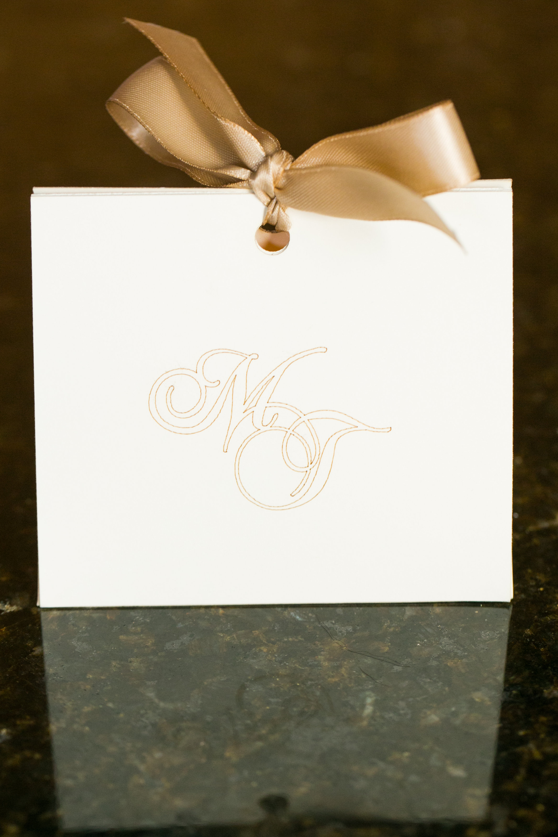 elegant favor box  u0026 custom initials